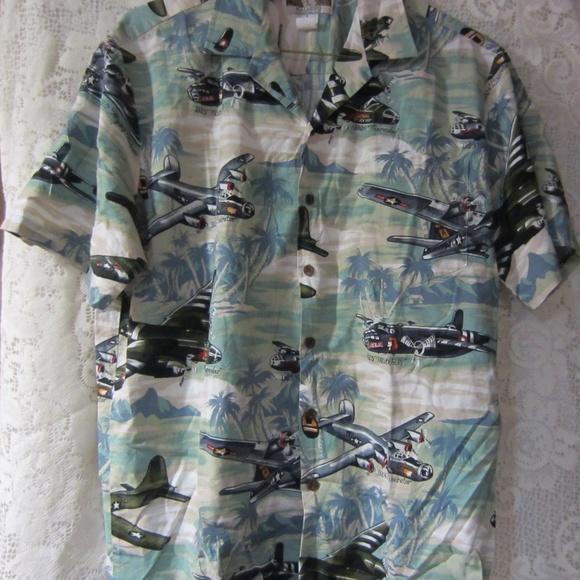 c5c29d41 kalaheo Shirts | Vintage Hawaiian Shirt Wwii Bomber Size L | Poshmark